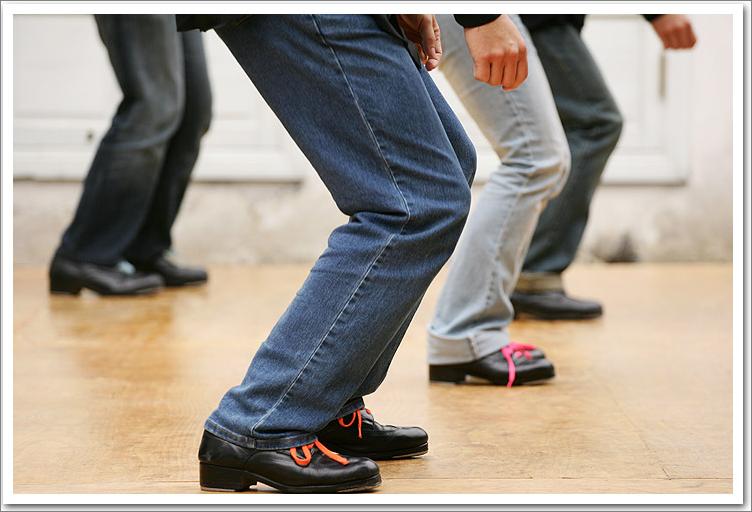 穿上踢踏舞鞋時