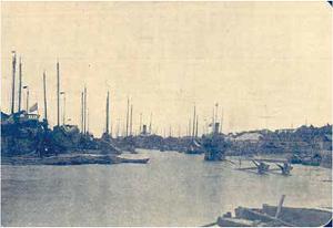 1912年代淡水稅關(提供/國立臺灣大學圖書館藏)