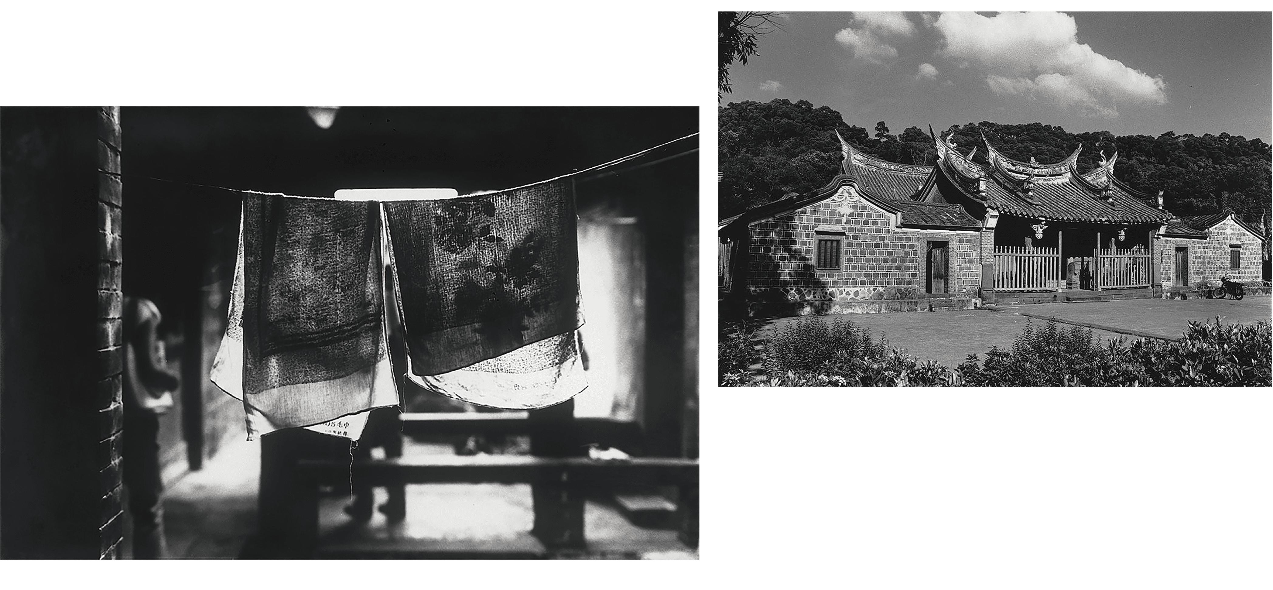 1981年(上)、1984年(下)之新北市市定古蹟-淡水鄞山寺