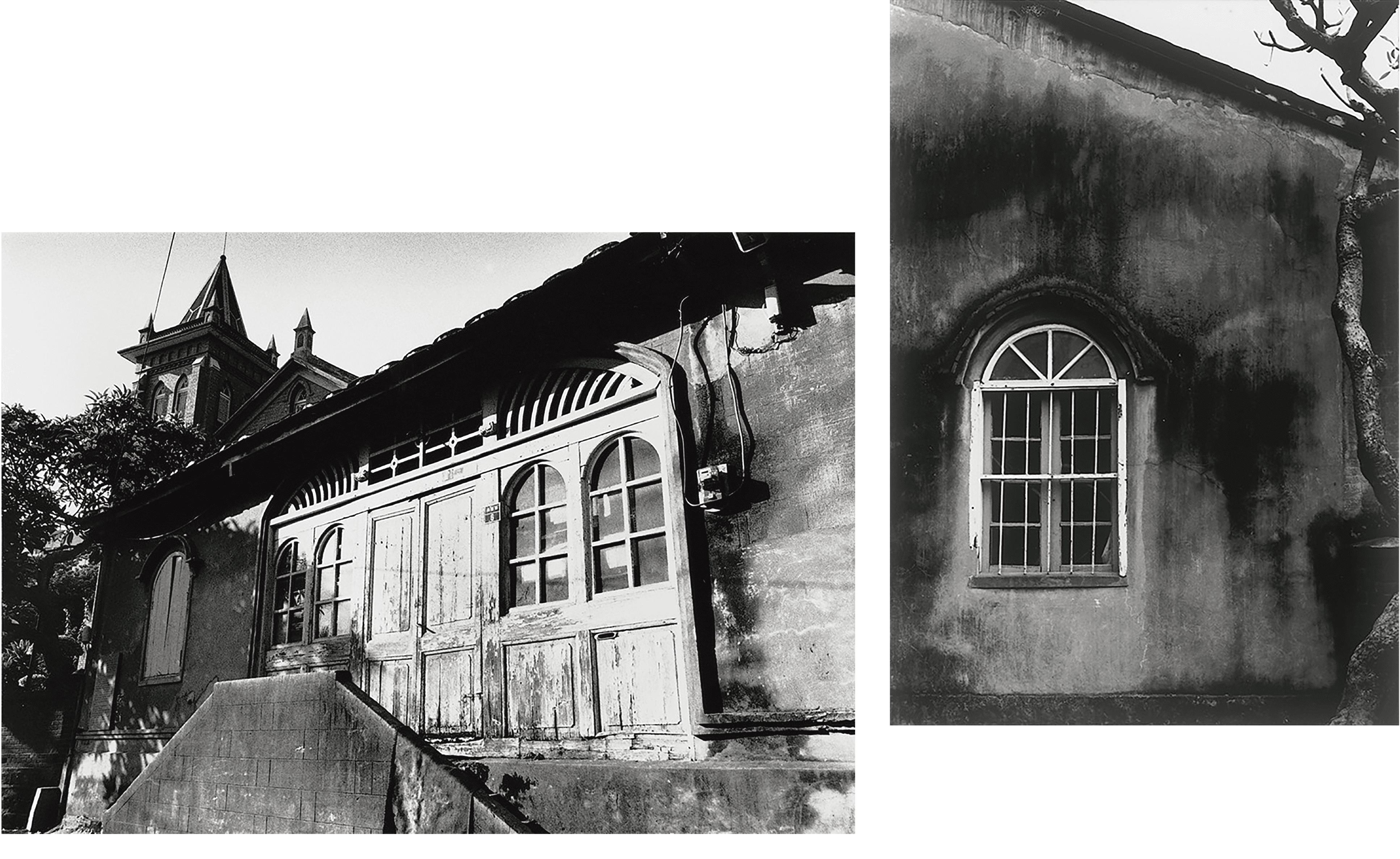 1982年(右)、1991年(左)滬尾偕醫館