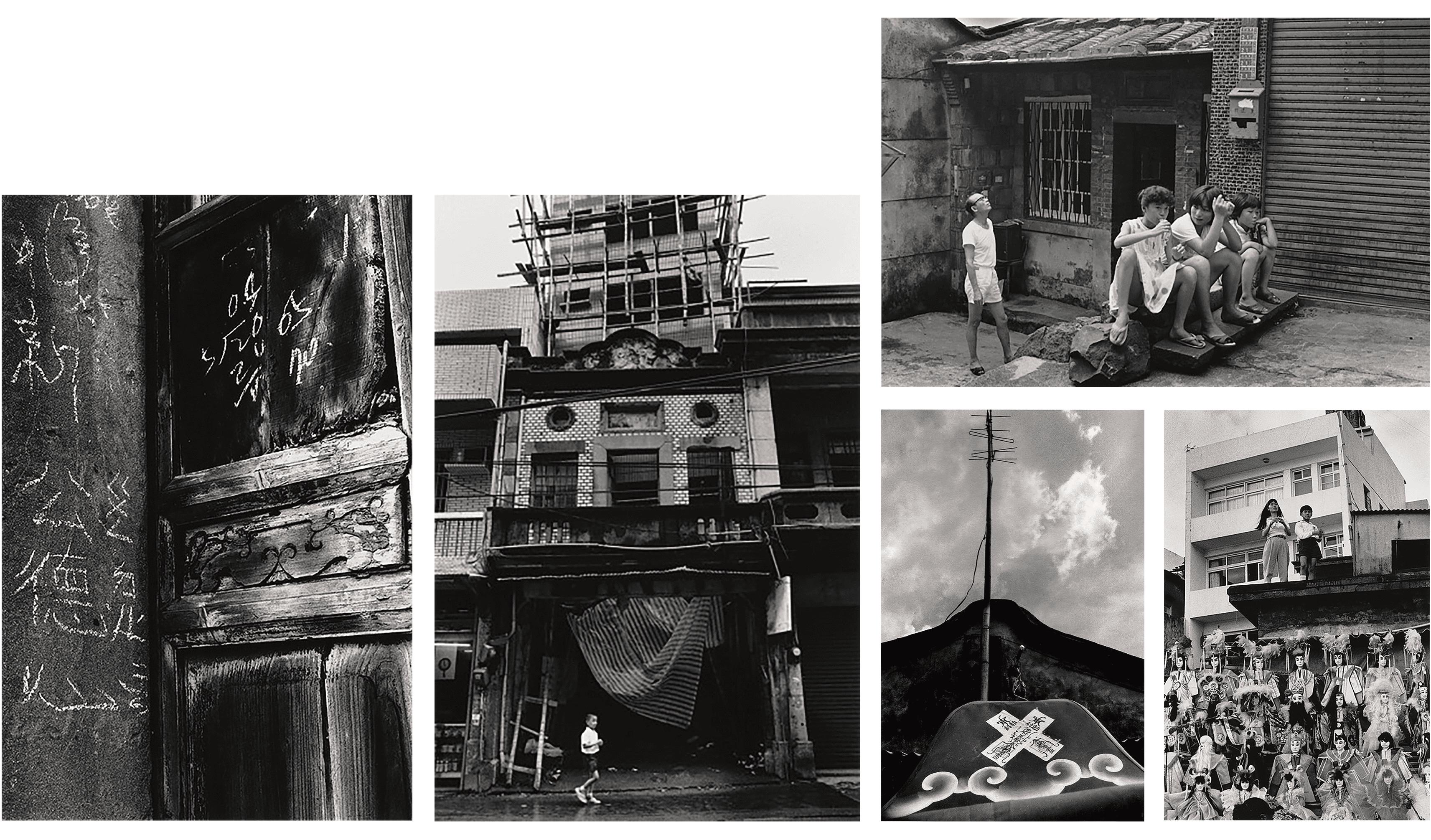 上排:1985年重建街;下排(左至右):1981年重建街、1989年中正路、1983年三民街、1990年渡船頭環河道路