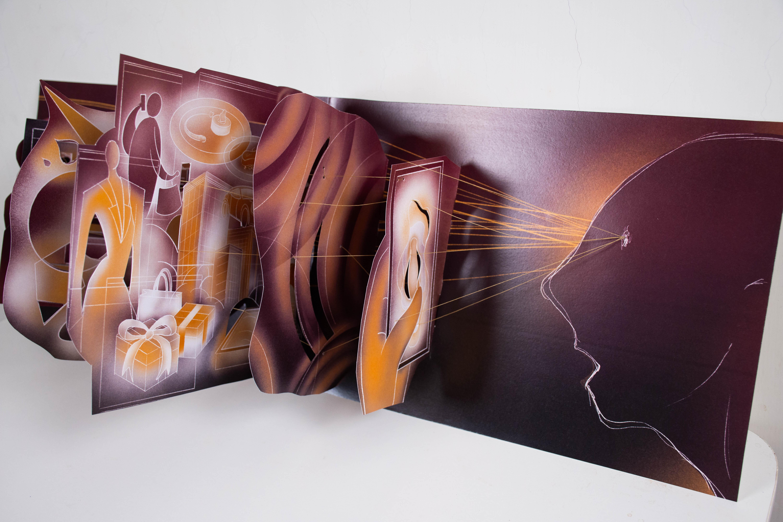 435立體書藝術家《目光-賴冠傑創作個展》 一線一目光 牽動靈魂與身軀