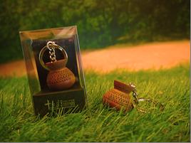 雕花陶罐鑰匙圈